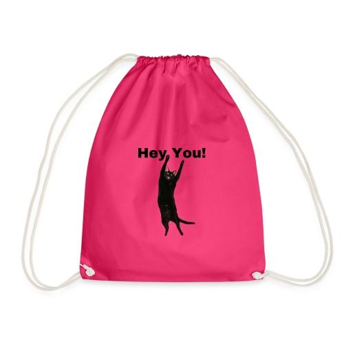 Hey you cat - Drawstring Bag
