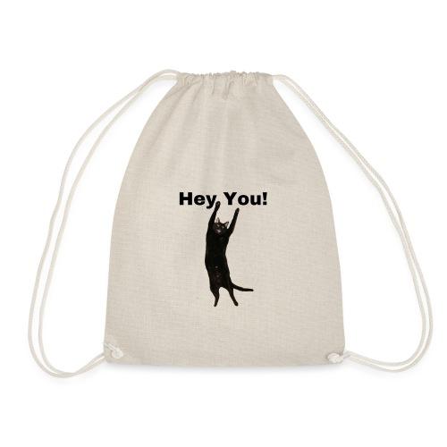 Hey you cat - Drawstring Bag