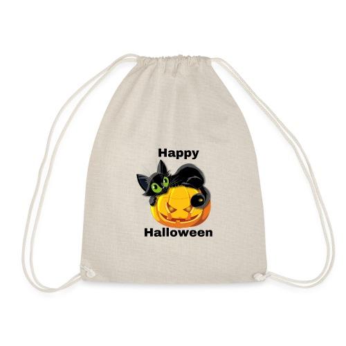 Happy Halloween cat - Drawstring Bag