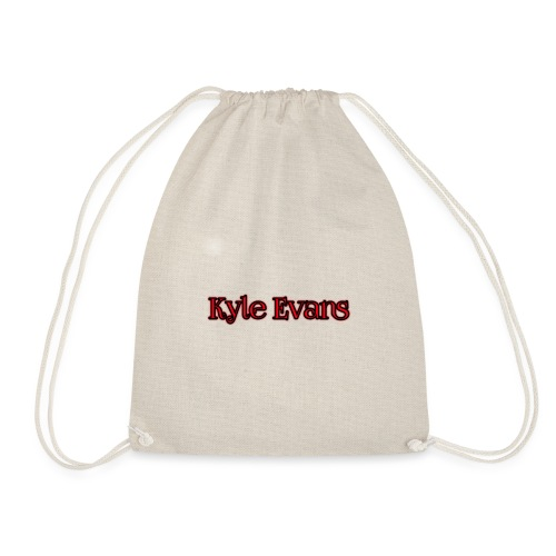 KYLE EVANS TEXT T-SHIRT - Drawstring Bag