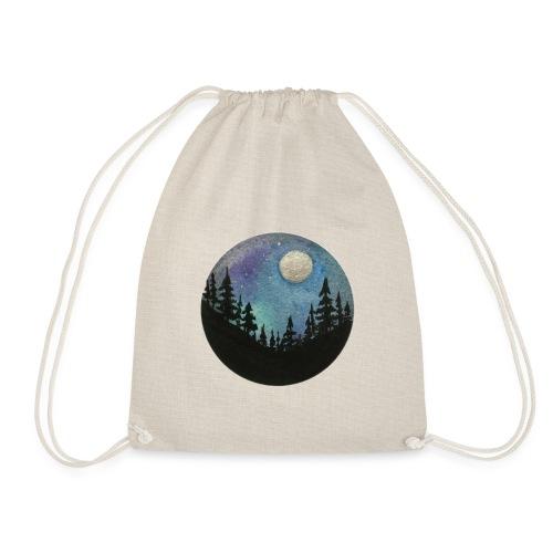 Diseño Bosque nocturno con colores y luna llena - Mochila saco