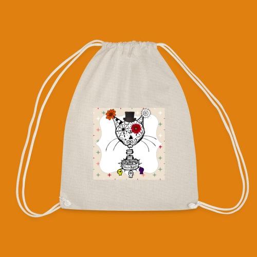 cat color - Drawstring Bag