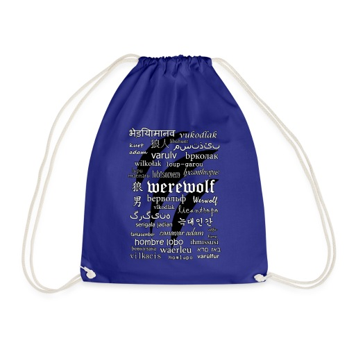 Werewolf in 33 Languages.png - Drawstring Bag