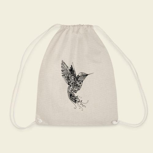 Großer Design-Kolibri - Turnbeutel