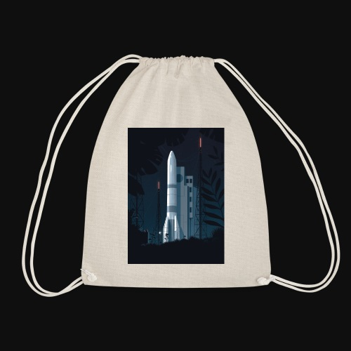 Ariane 6 - At night By Tom Haugomat - Drawstring Bag