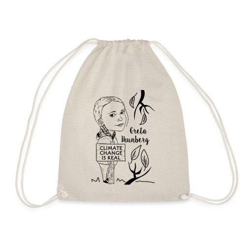 climate change is real - Drawstring Bag
