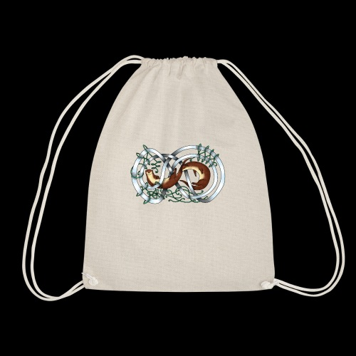 Otters entwined - Drawstring Bag