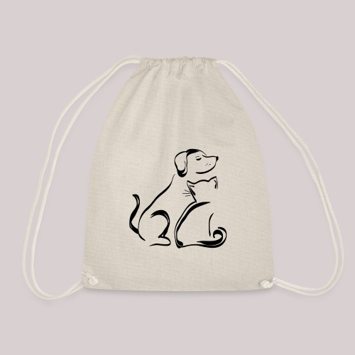 Hund Katze Paar - Turnbeutel