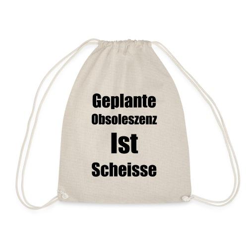 Obsoleszenz Schwarz Weiss - Turnbeutel