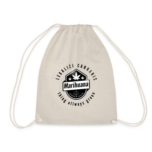 Legalize Cannabis Smoke Weed VINTAGE - Drawstring Bag