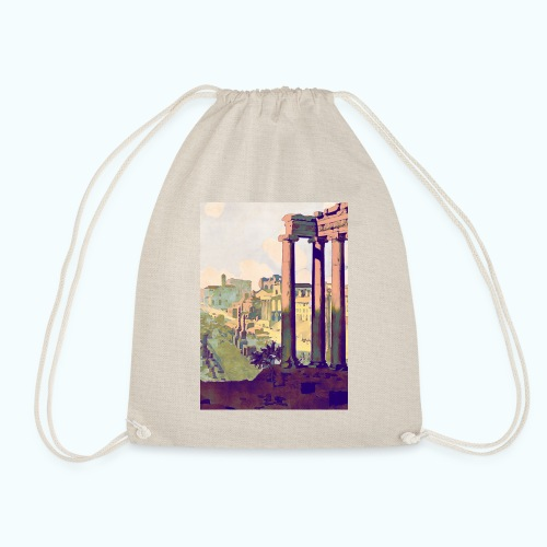 Rome Vintage Travel Poster - Drawstring Bag