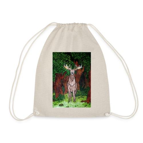 Deer artwork - Drawstring Bag