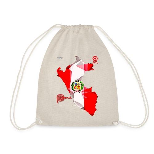 Mapa del Peru, Bandera y Escarapela - Drawstring Bag