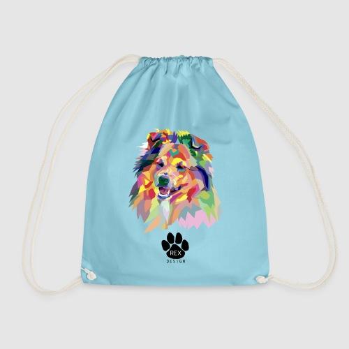 Happy Little Sheltie - Drawstring Bag