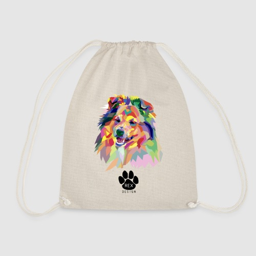 Happy Little Sheltie - Drawstring Bag