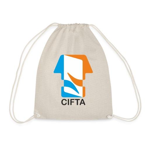 Logo CIFTA letra negro - Mochila saco