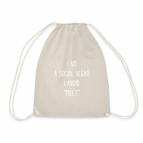 A Social Vegan - Drawstring Bag