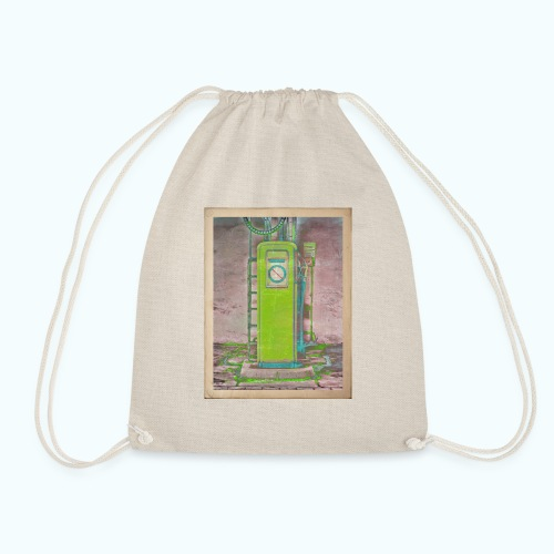 Vintage gas station - Drawstring Bag