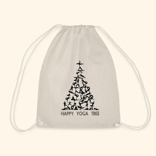Happy Yoga Christmas Tree - Turnbeutel