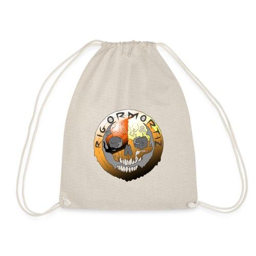 Rigormortiz Metallic Orange Design - Drawstring Bag