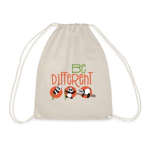 Be Different Panda Bär - be yourself - Turnbeutel