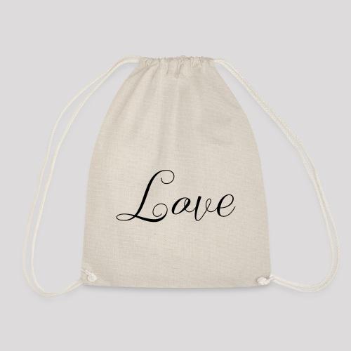 Love - Schiftzug - Turnbeutel