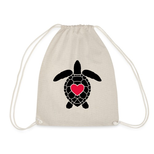 Turtle Love - Drawstring Bag