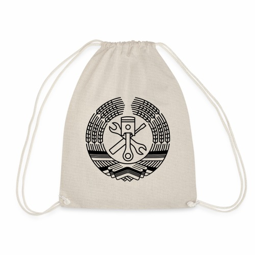 DDR Tuning Coat of Arms 1c (+ Your Text) - Drawstring Bag