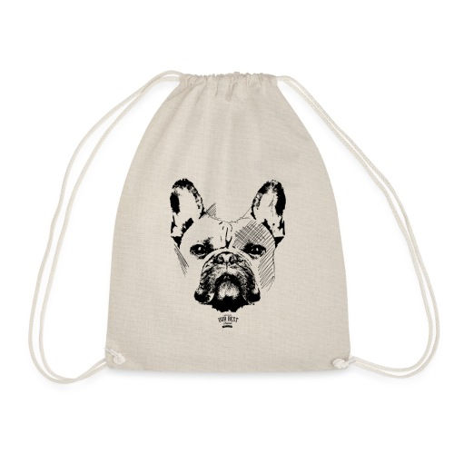 Französische Bulldogge Sketch - Turnbeutel