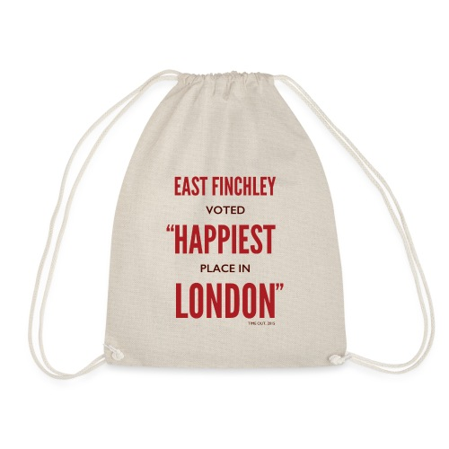 East Finchley Happiest Place in London - Drawstring Bag