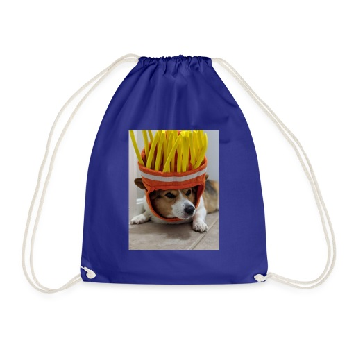 dog with c00l hat - Worek gimnastyczny