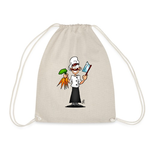 The vegetarian chef - Drawstring Bag
