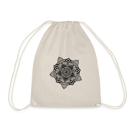 mandala fiore di loto - Sacca sportiva