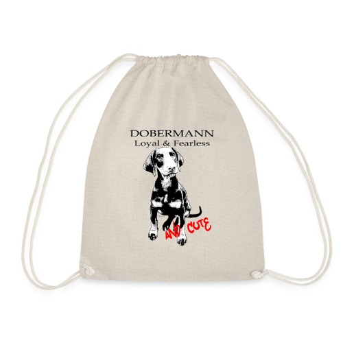 Dobermann Loyal Fearless - Drawstring Bag