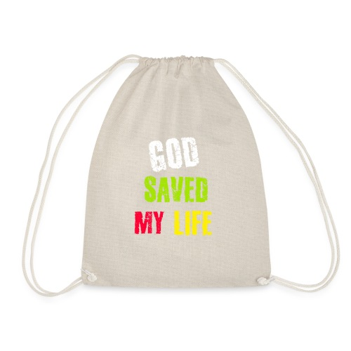 Gott hat mein Leben gerettet - Turnbeutel
