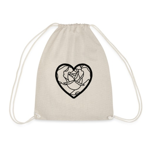 Heart of a rose - Drawstring Bag