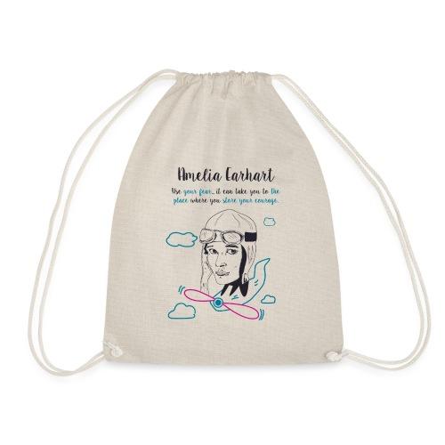 Amelia Earhart - Drawstring Bag