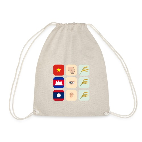 Proverb about Vietnam, Cambodia and Laos - Drawstring Bag