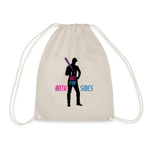 I bat for both sides male - Drawstring Bag