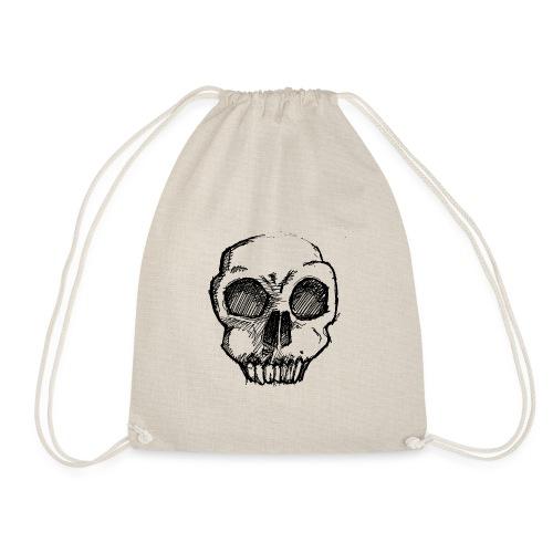 Skull sketch - Drawstring Bag