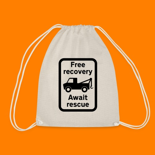 free recovery - Drawstring Bag