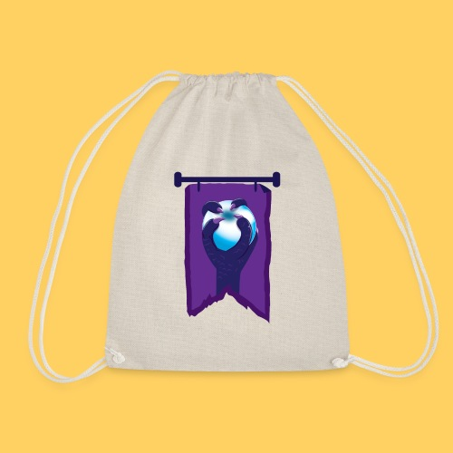 Purple banner with DRAGON fist and orb - Drawstring Bag