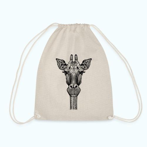 Mandala giraffe - Drawstring Bag