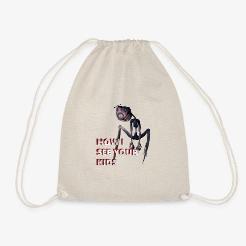 how i see kids - Drawstring Bag