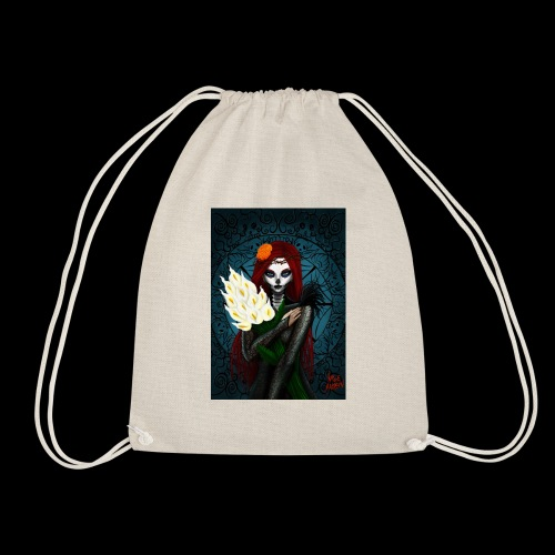 Death and lillies - Drawstring Bag