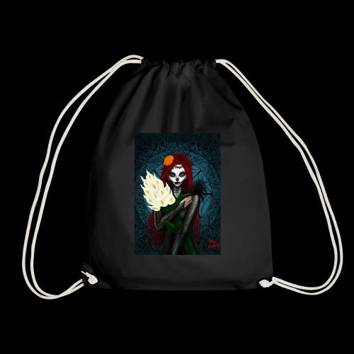 Death and lillies - Drawstring Bag