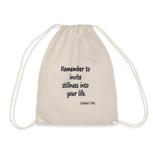 Invite Stillness - Drawstring Bag
