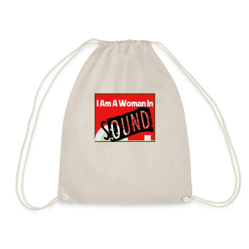 I am a woman in sound - red - Drawstring Bag