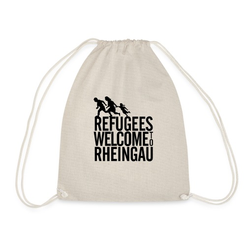 Refugees Welcome to Rheingau Pullover Front&Back - Turnbeutel