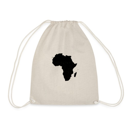 Black Africa Labels Cities - Drawstring Bag